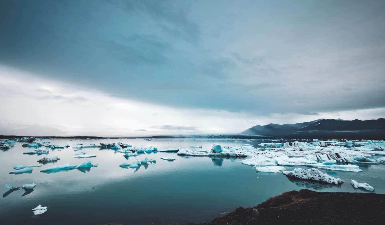 Icebergs in the Jökulsár Lagoon in Iceland