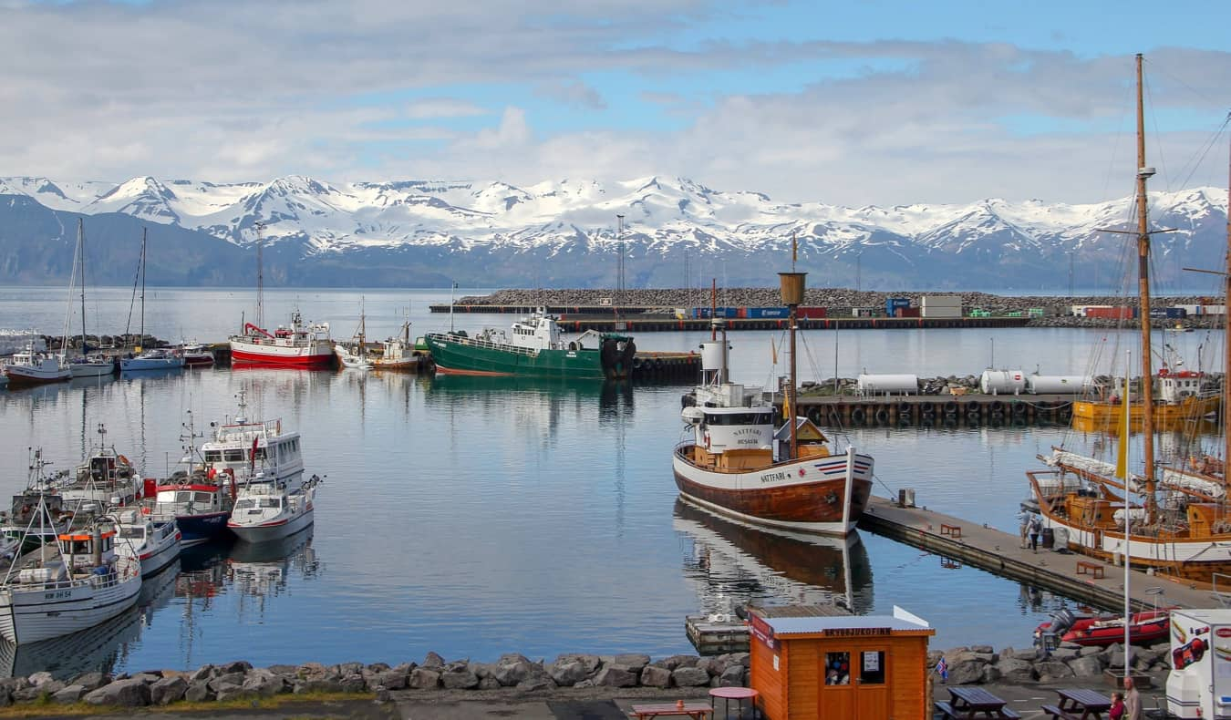 the colorful city of Husavik in Nothern Iceland
