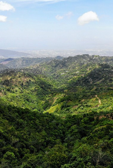 The sweeping views from the Blue Mountains in Jamaica