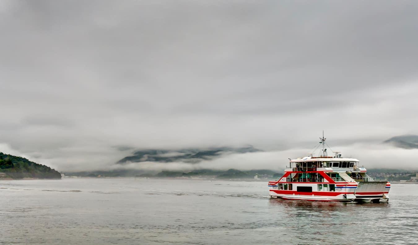 The ferry from mainland Japan to Miyajima Island