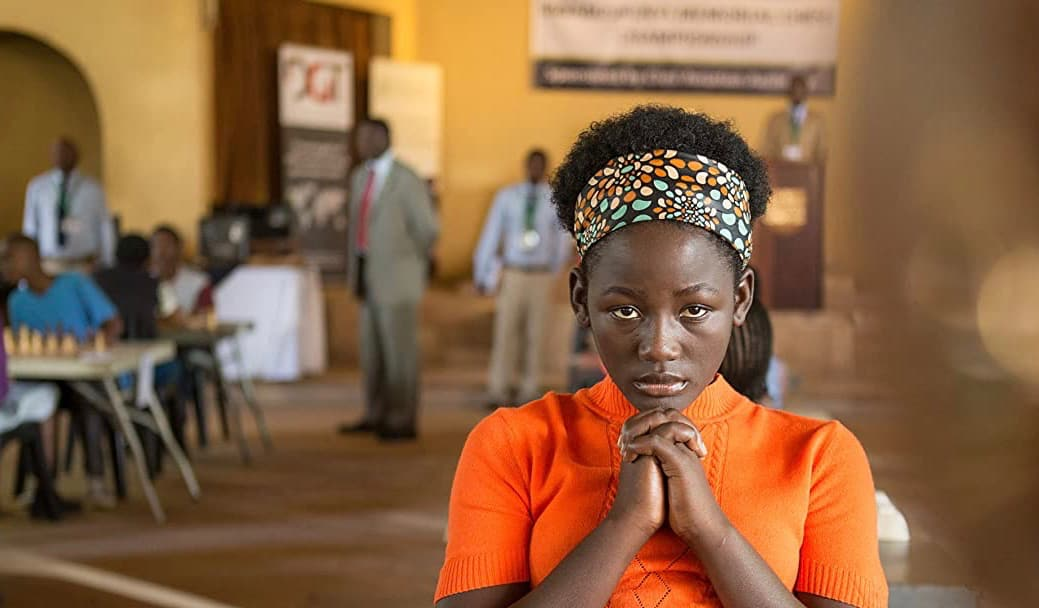 A young black woman in a classroom, a scene from Queen of Katwe