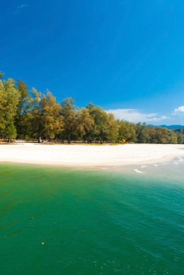 The stunning white-sand beach of Tarutao National Marine park in Thailand
