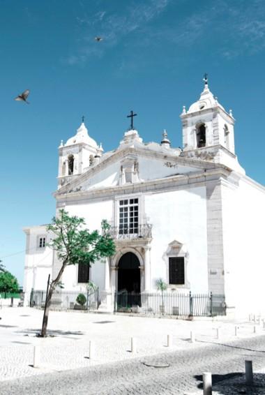 A historic church in Lagos, Portugal
