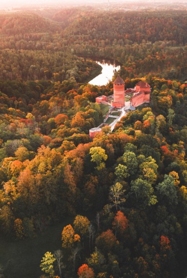A historic castle in Sigulda, Latvia