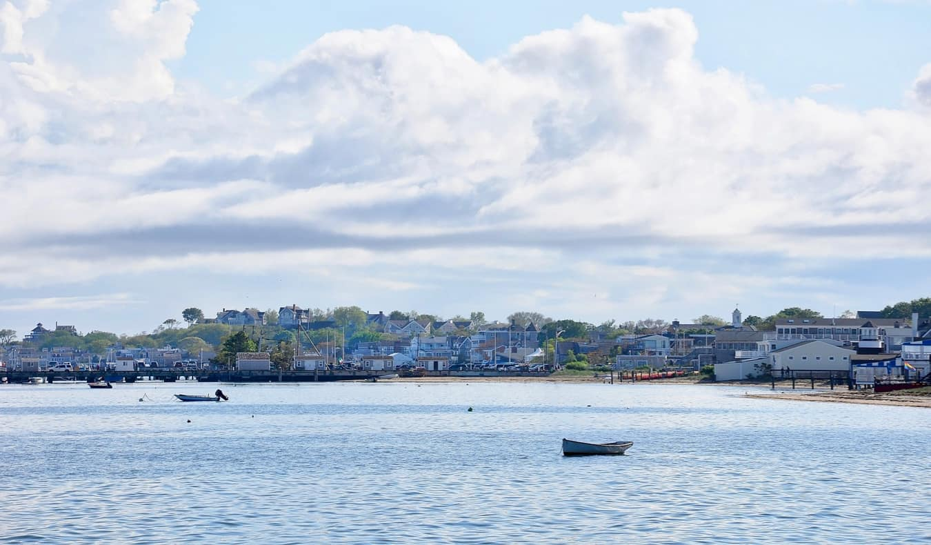 A scenic view of the water in Provincetown, MA