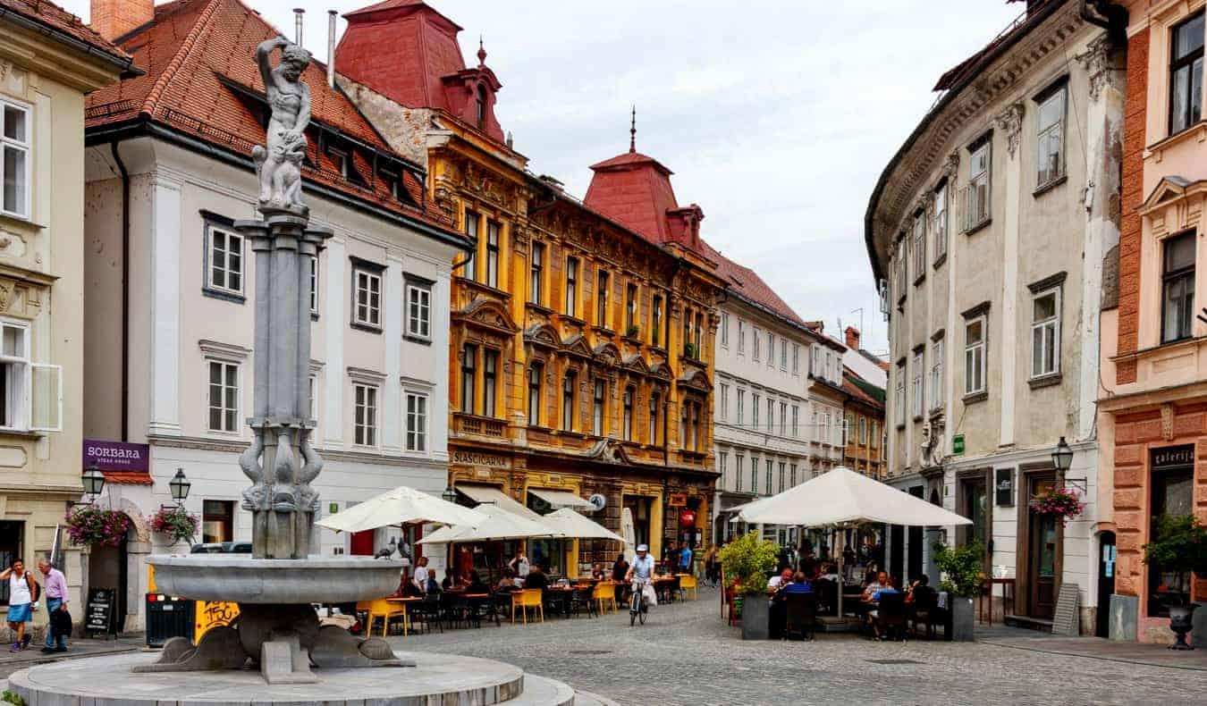Historic buildings in Ljubljana, Slovenia