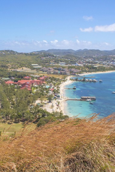 The coast of Pigeon island in St Lucia