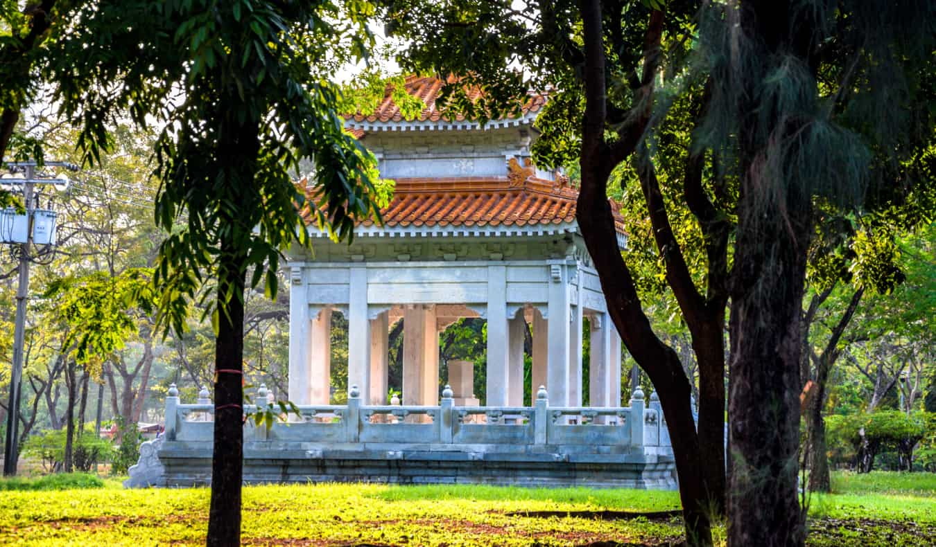 An old Pavillion in Lumpini Park in Bangkok, Thailand