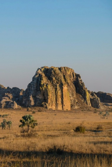 The rugged arid of Isalo National Park in Madagascar
