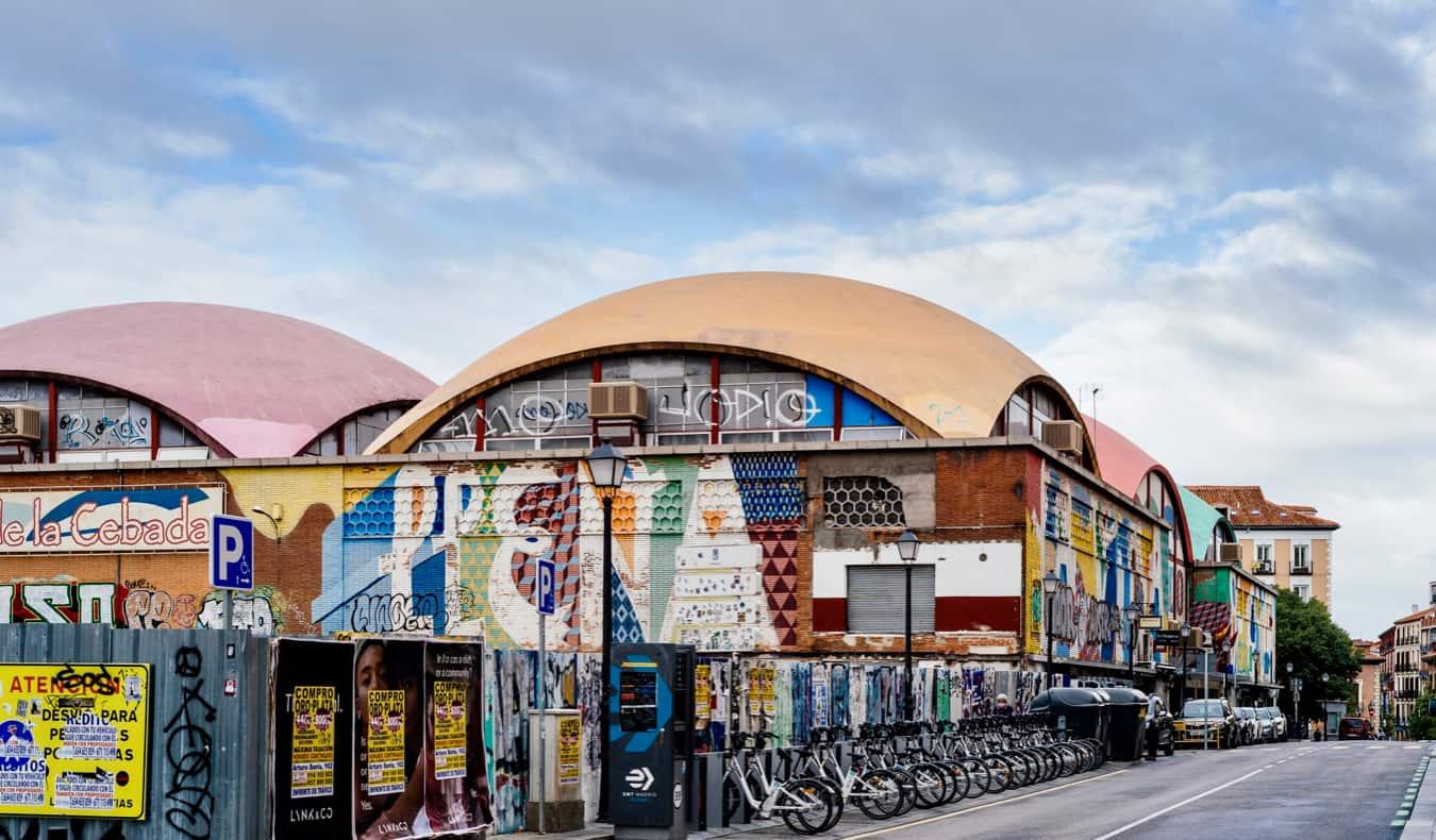 A huge market warehouse in La Latina in Madrid, Spain