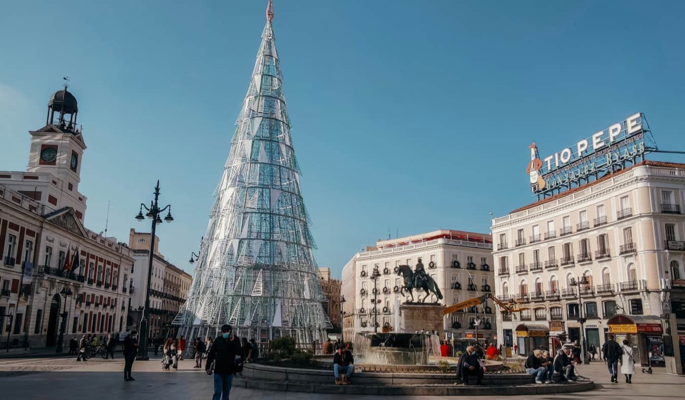 The famous Puerta del Sol in Madrid, Spain