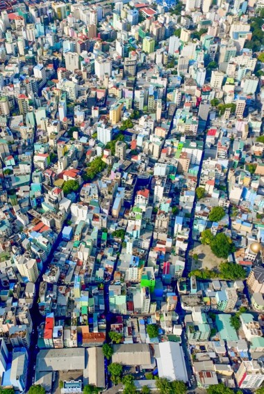 The crowded city of Male, Maldives