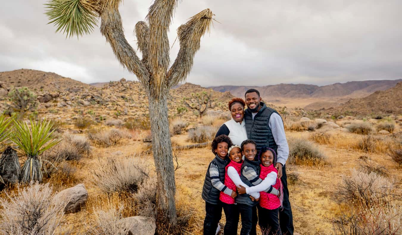 Karen from The Mom Trotter and her family traveling in the USA