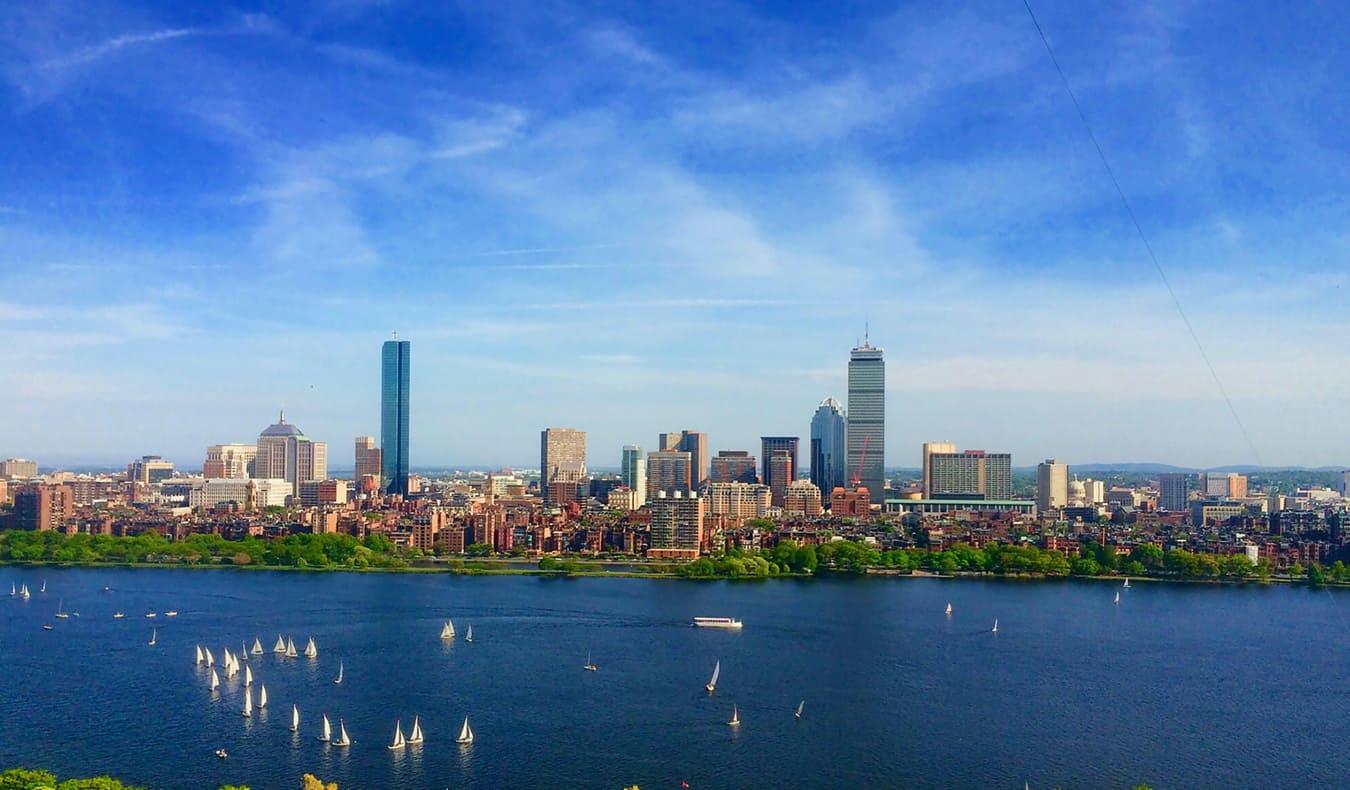 The summer skyline of Boston, Massachusetts