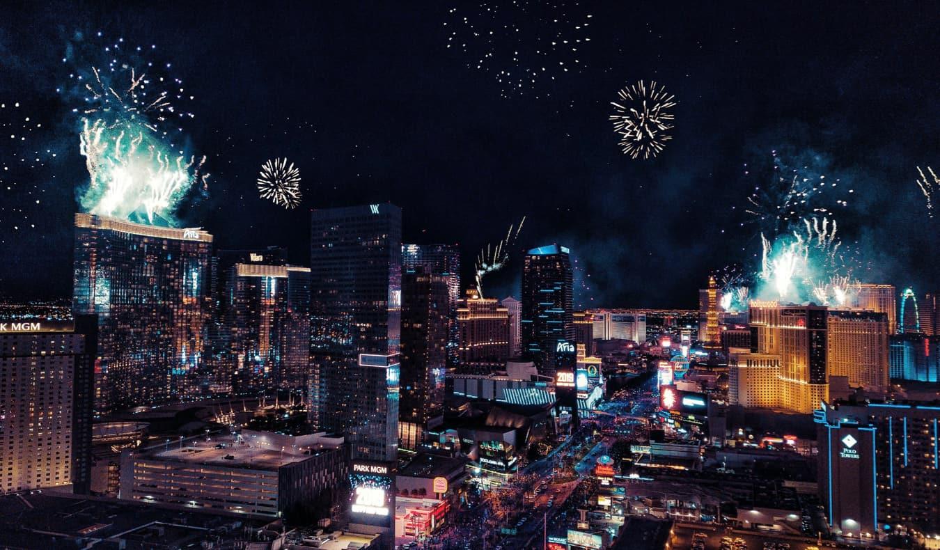 Las Vegas during New Year's
