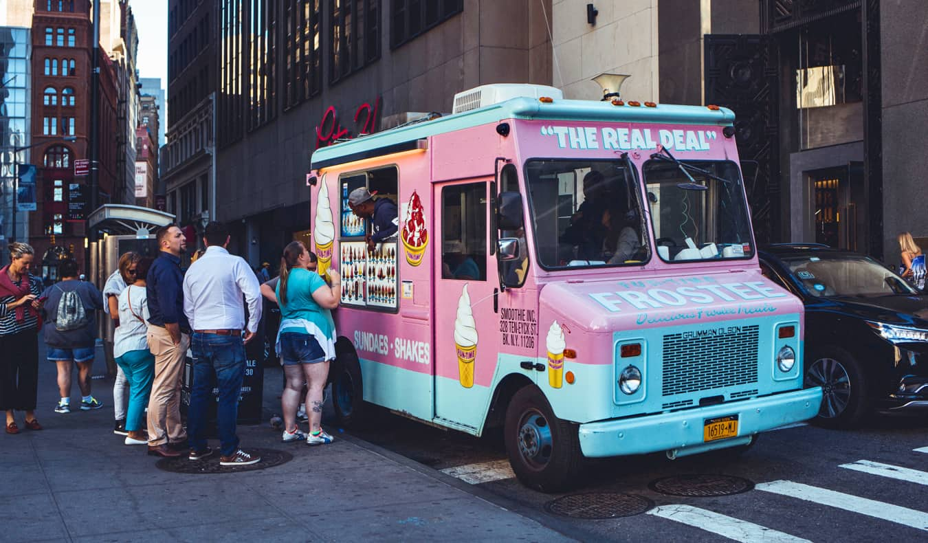 a food truck in NYC