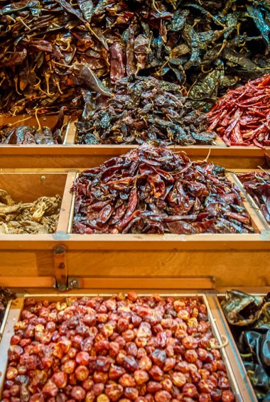 Incredible local food at the market in Oaxaca, Mexico