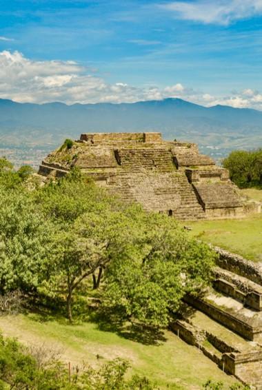 The ruins of Monte Alban near Oaxaca, Mexico
