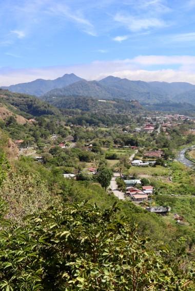 The lush greenery around Boquete, Panama