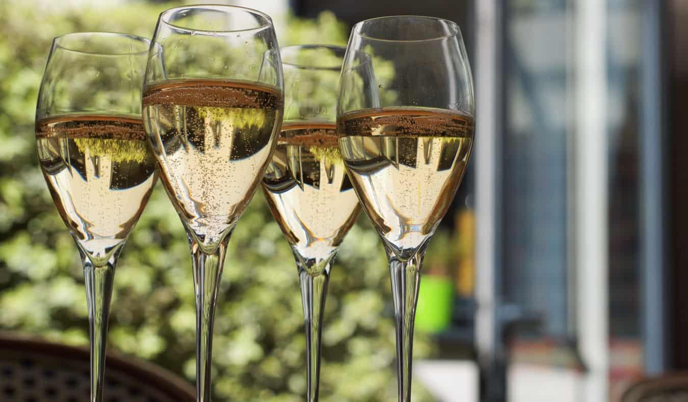 Glasses of wine in Paris, France