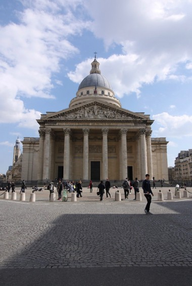 The Pantheon in Paris, France in the Latin Quarter