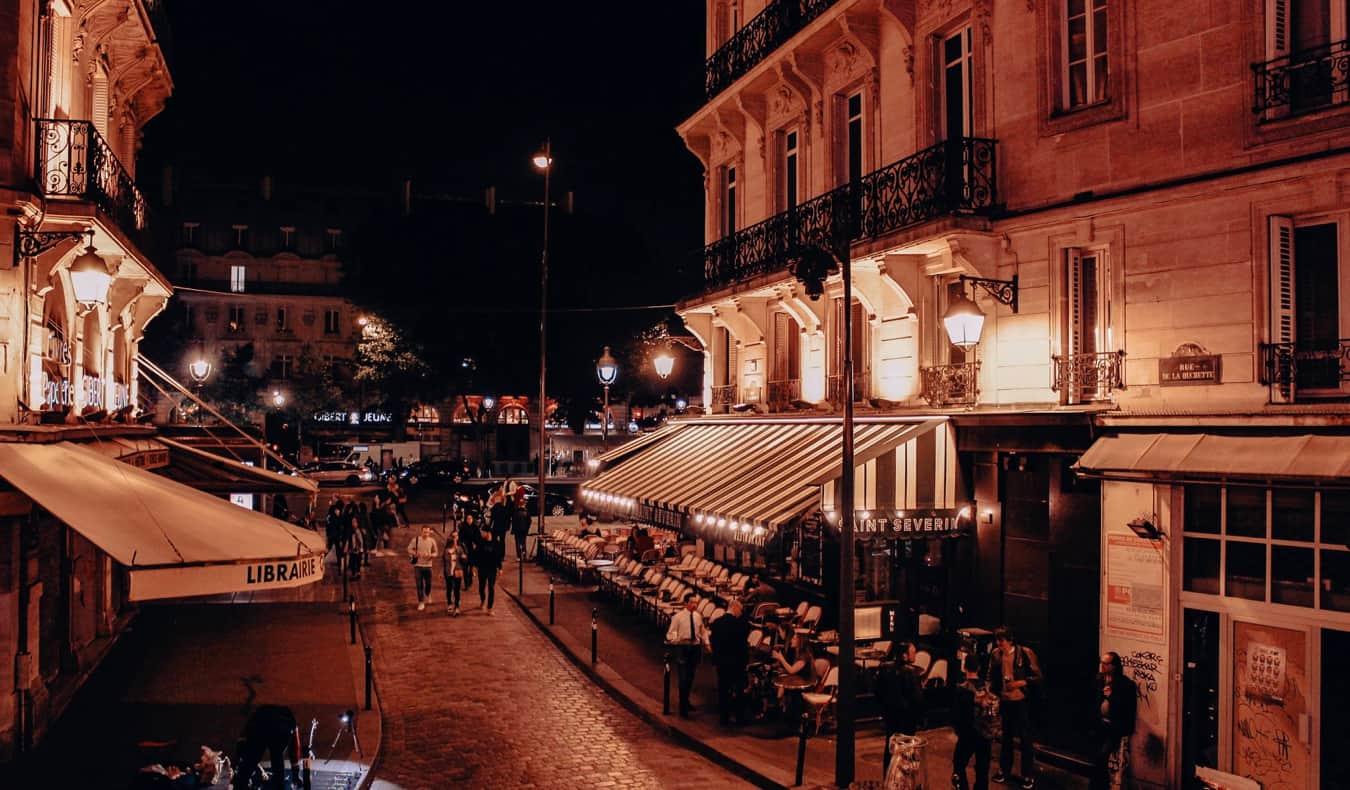 The historic Latin Quarter in Paris, France