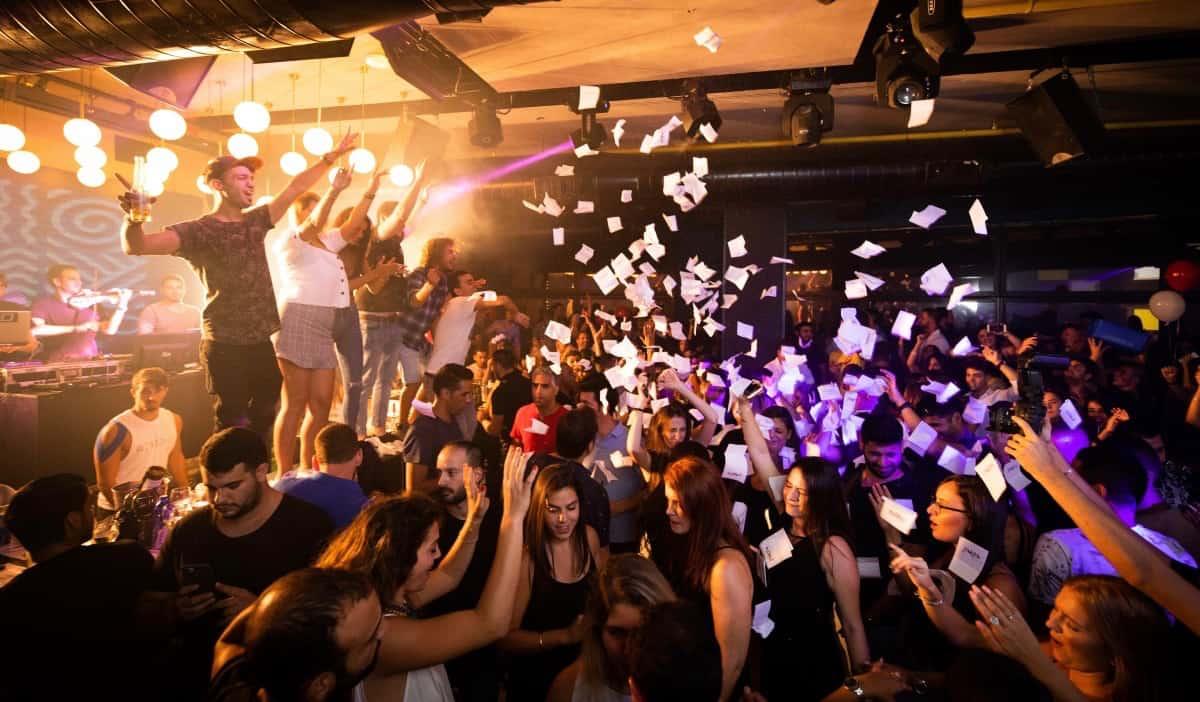 A club party in Ios, Greece
