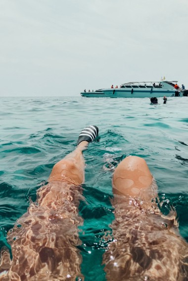 Tourists snorkeling in Ko Phi Phi, Thailand