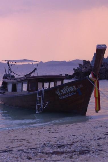 A small Thai boat in Phang Nga Bay, Thailand