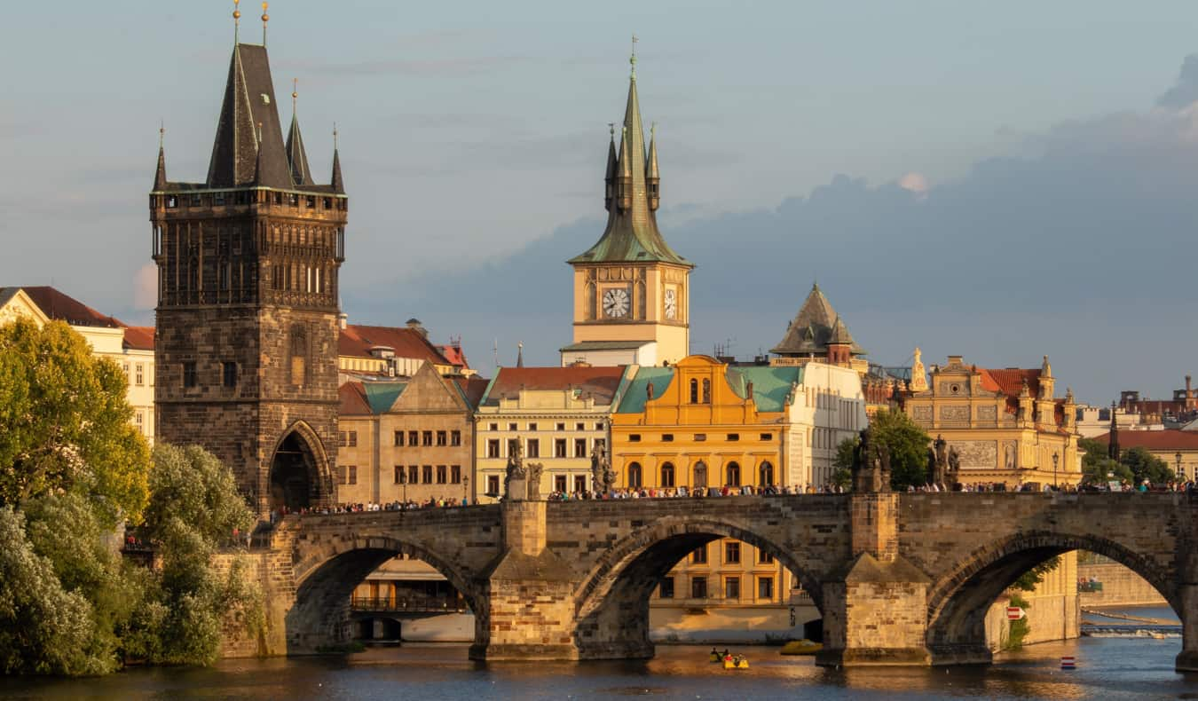 The picturesque skyline of Old Town in Prague, Czechia