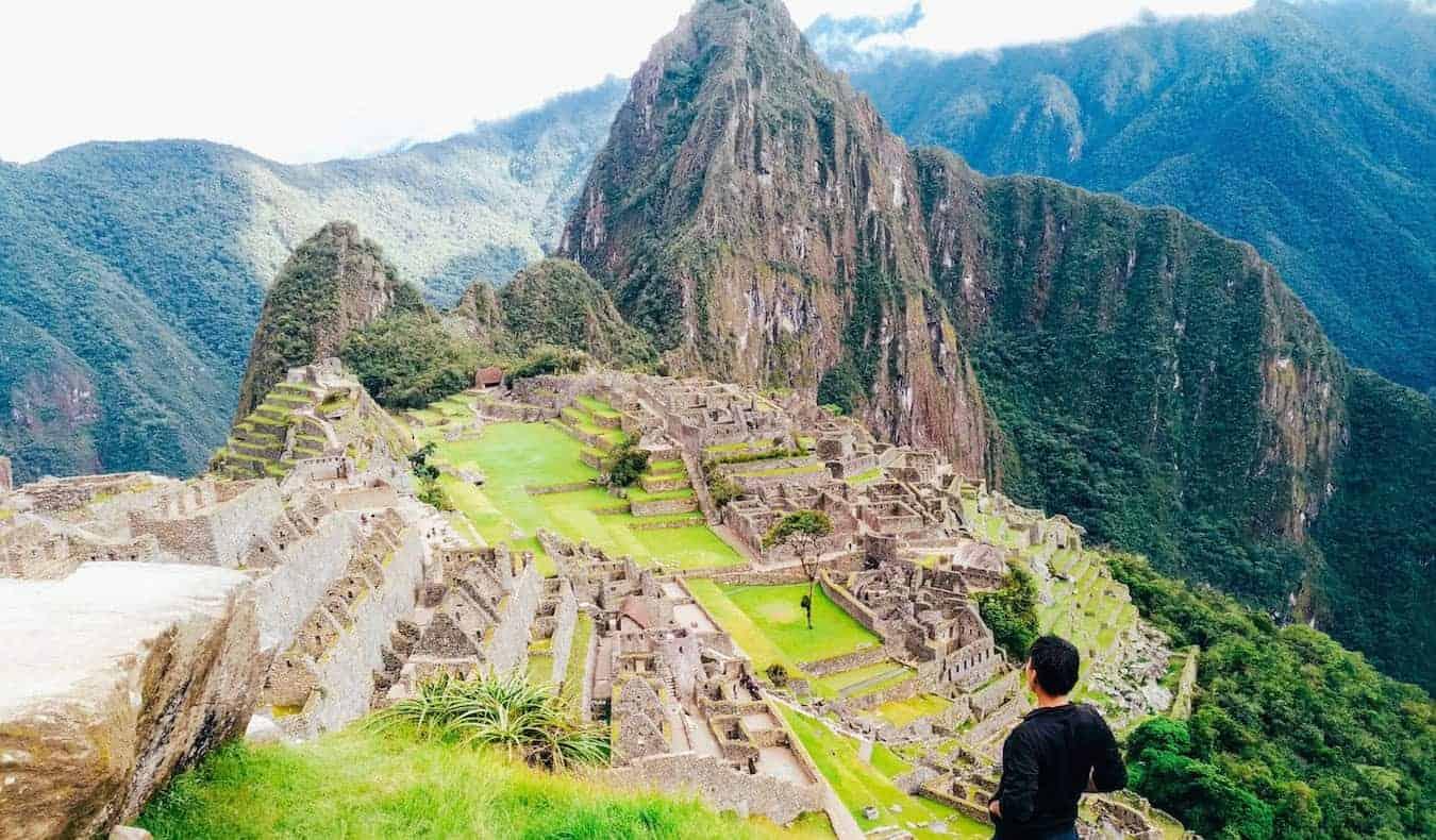 Rax, a solo digital nomad, visiting Machu Picchu