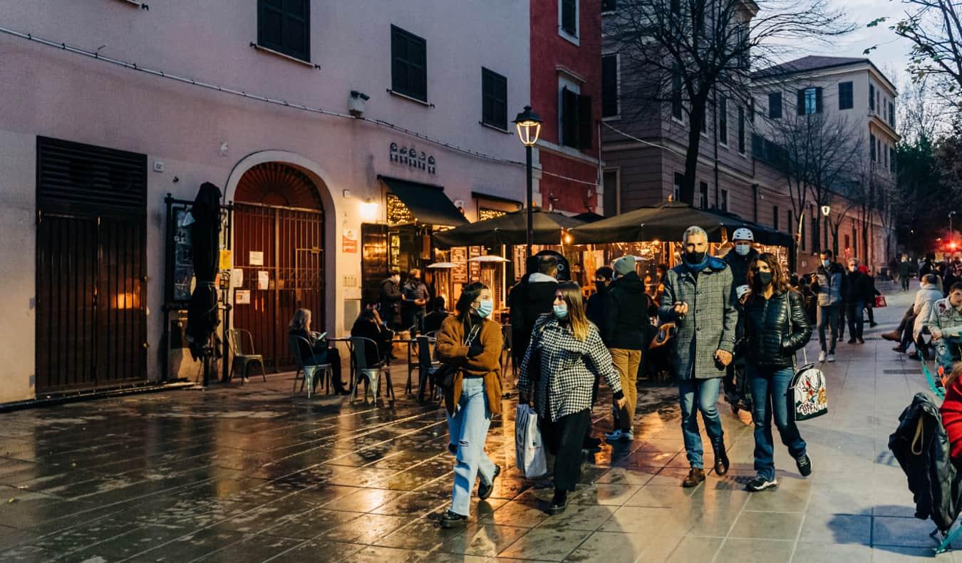The Pigneto district of Rome, Italy