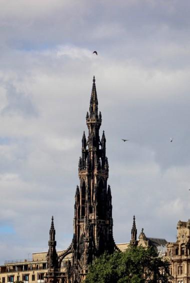 The towering Scott Monument in Edinburgh, Scotland