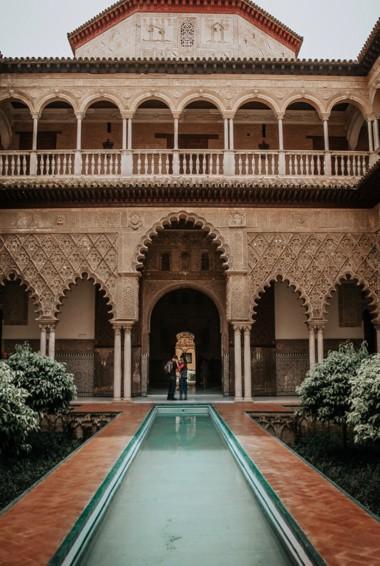 the Alcázar in Seville, Spain