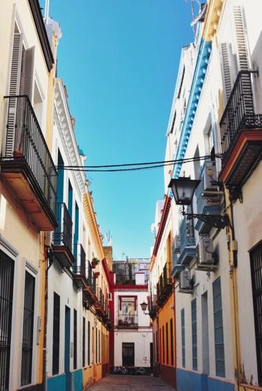 The historic Jewish Quarter in Seville, Spain