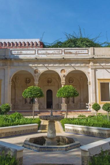 The courtyard of the Casa de Pilatos in Seville, Spain