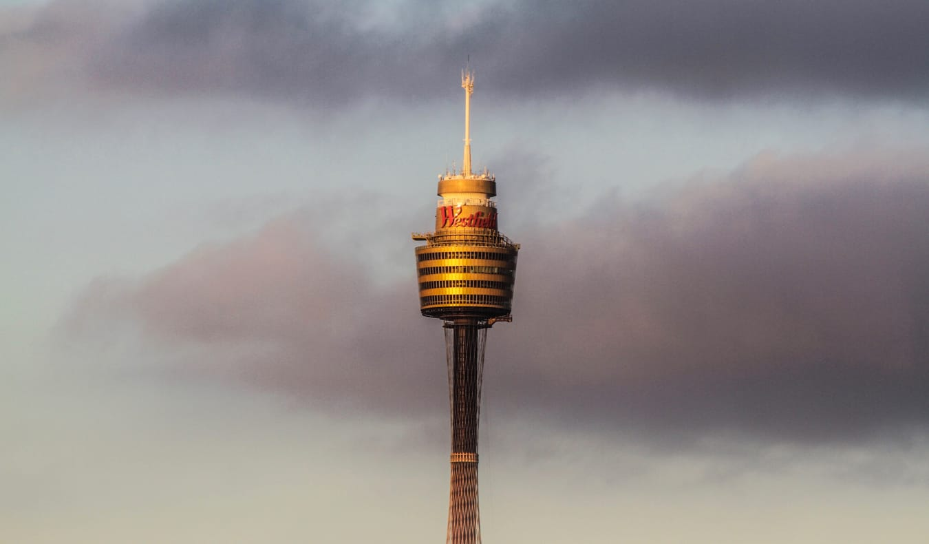 Sydney Tower Skywalk photo against a grey sky
