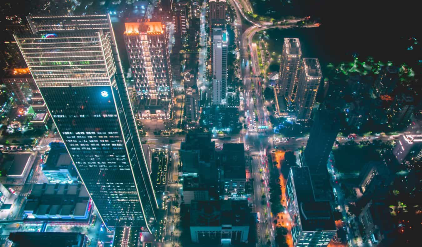 View from Taipei 101 in Taiwan