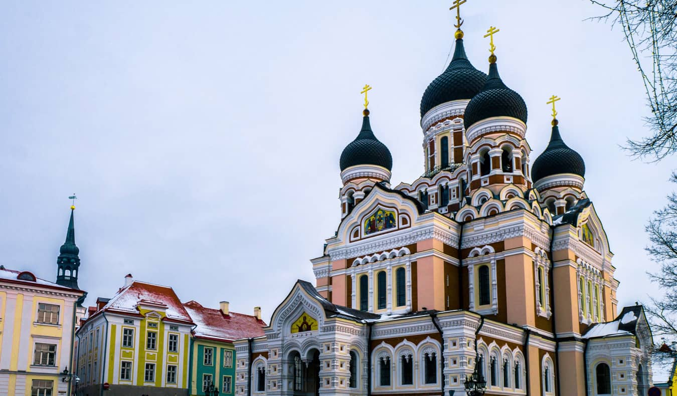 The historic Alexander Kevsky Cathedral in Tallinn, Estonia