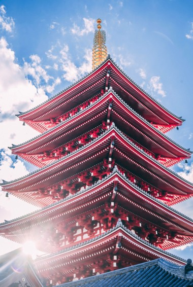 Sensoji Temple in Tokyo, Japan