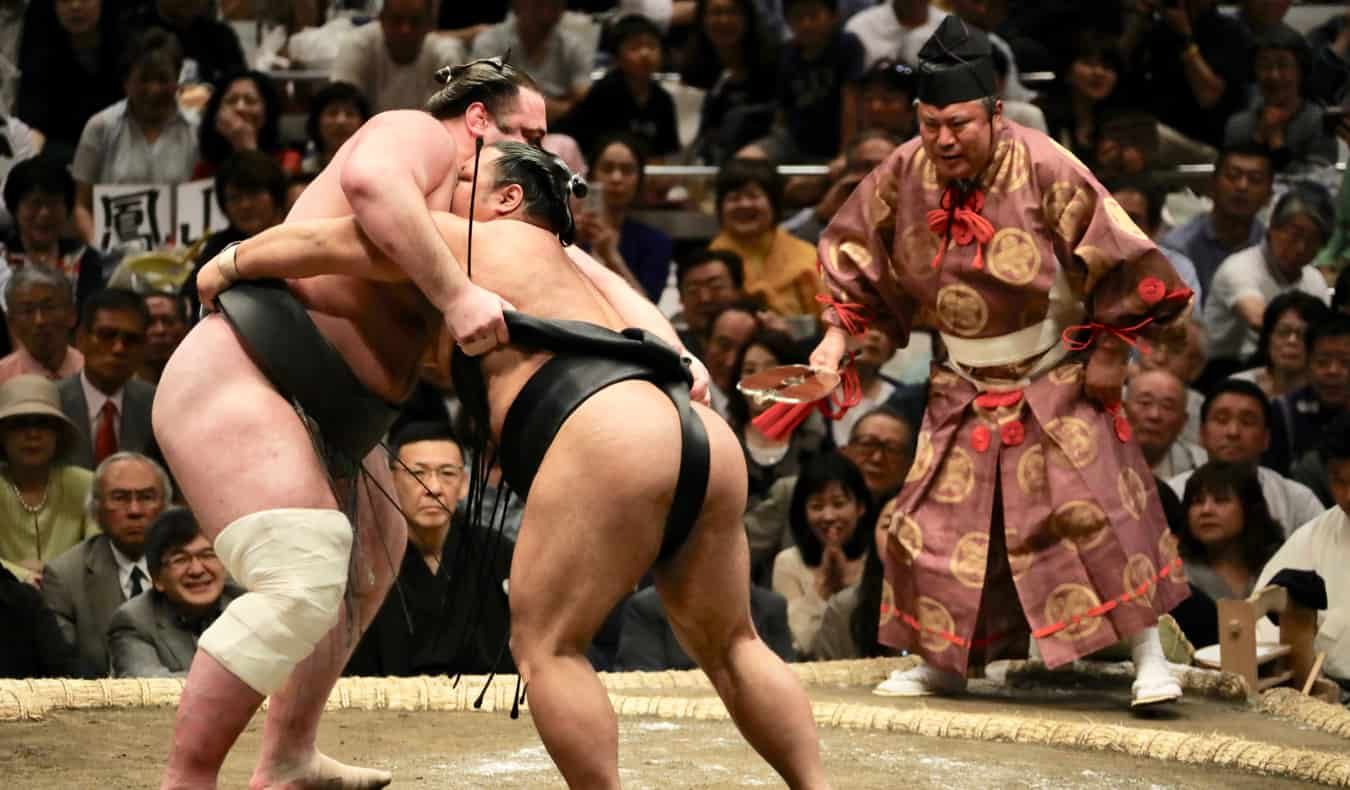 A sumo wrestling match in Tokyo, Japan