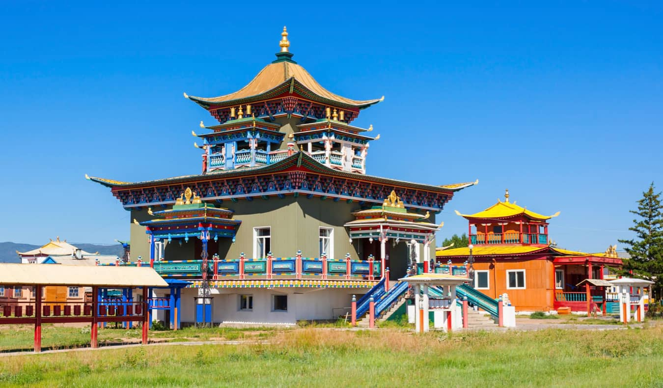 A colorful Buddhist temple in Ulan Ude, Russia