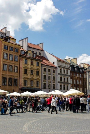 The historic Old Town in Warsaw, Poland