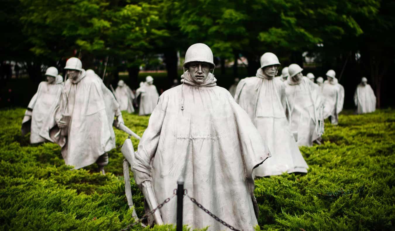 Korean War Memorial at the National Mall in Wasington, DC