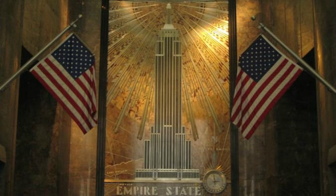 The Empire State Building lobby is a great stop on your trop to NYC