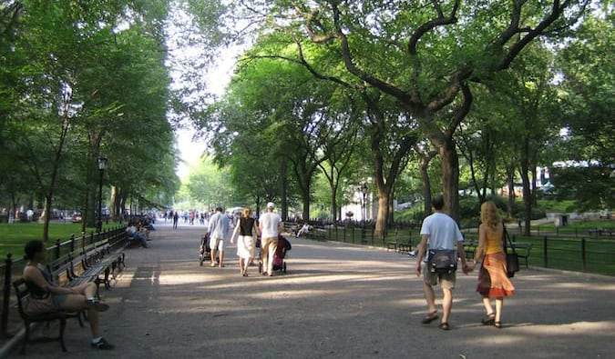 Walk through the beautiful Central Park in New York City