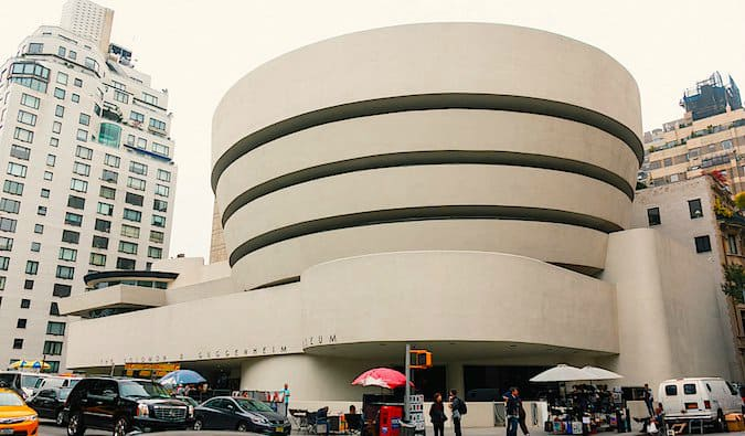 The exterior of the Guggenheim museum in New York City