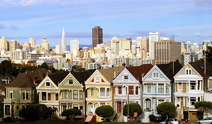 a view of the city skyline in san francisco
