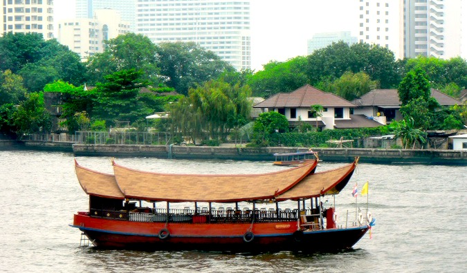 Cruise on the river in Bangkok, Thailand