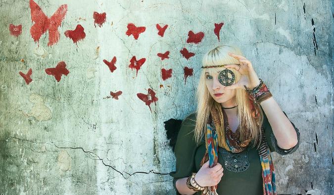 Hippie traveler
